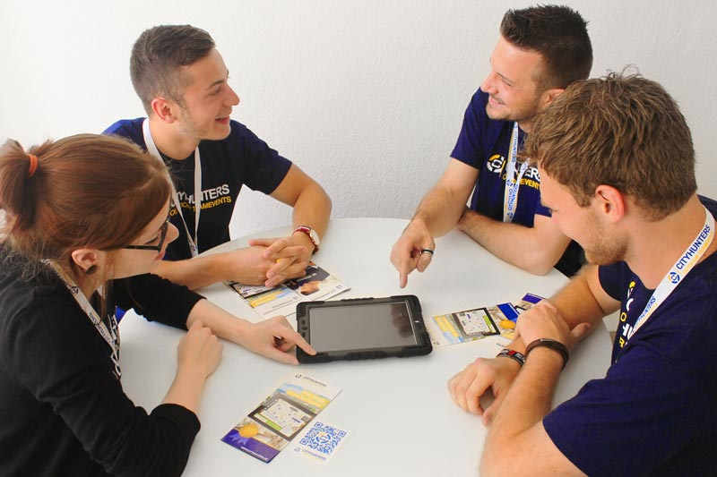 Indoor iPad Challenge als Teamevent in Erlangen