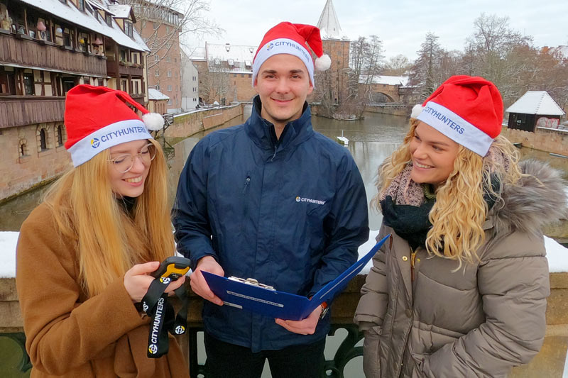 X-Mas Geocaching als Teamevent in Bamberg