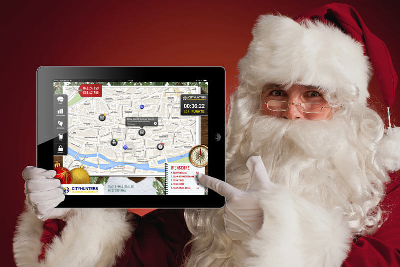 X-Mas iPad Rallye als Teamevent in Erlangen